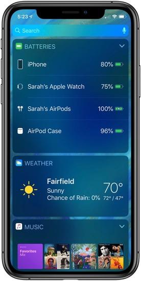 Как проверить заряд наушников AirPods на iPhone