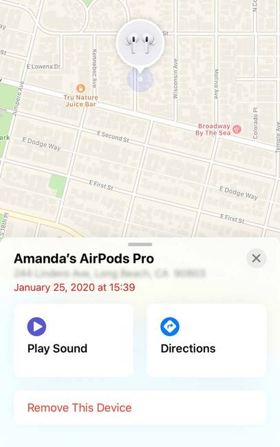 Потерял наушник AirPods