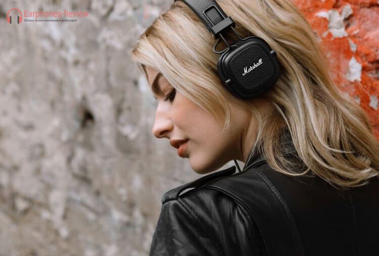 лучшие недорогие беспроводные наушники Marshall Major III Bluetooth